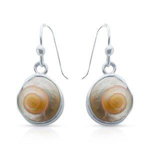 Knopfschnecken Silber Ohrring