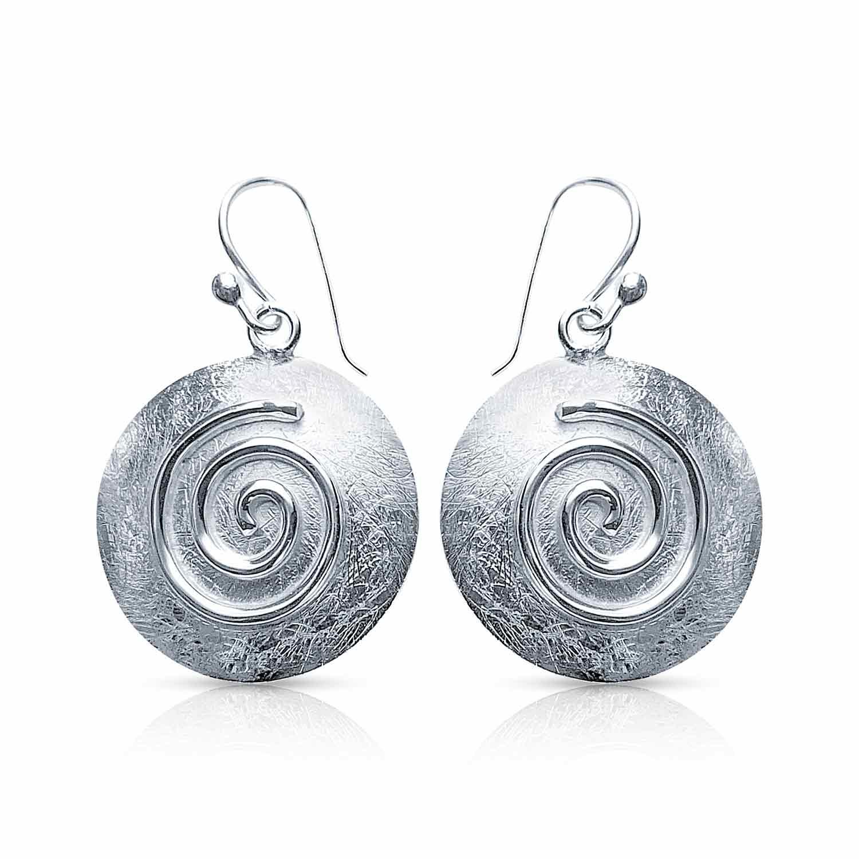 Silber Spiral Ohrring