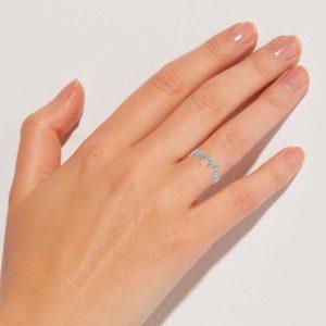 Silberdraht Ring Finger