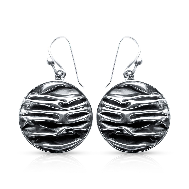 Ozean Wellen Ohrring Silber