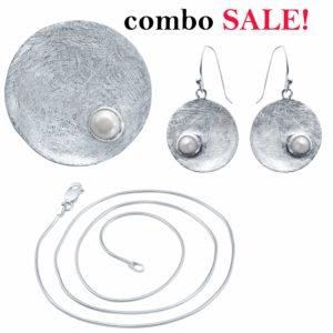 Perlen Anhänger Ohrring Kette