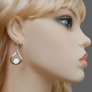 Perlmutt Ohrring silber