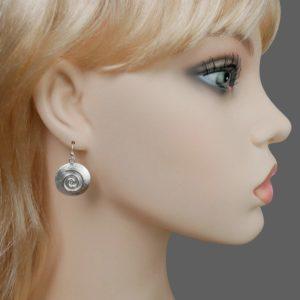 Silber Spiral Ohrhänger
