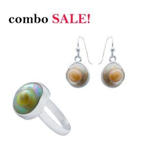 Knopfschnecken Ohrring Ring
