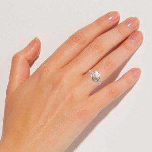 Schnecken silber Ring Finger