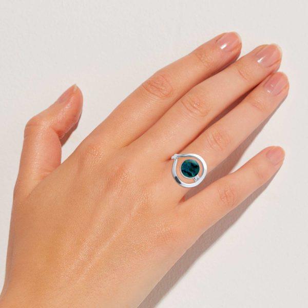 Abalone Ring Finger